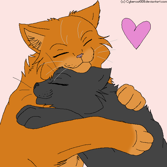 Fireheart and Cinderpelt by This-Better-Work