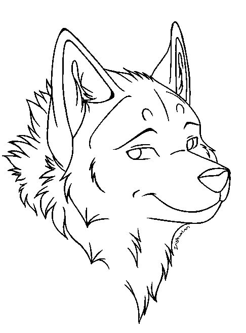 Free Line Art Converter : Free wolf head lineart convertion msp by this better work
