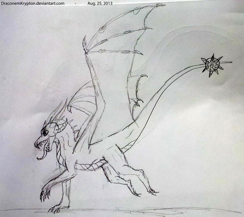 Playful Krypton Sketch by Eldurinn