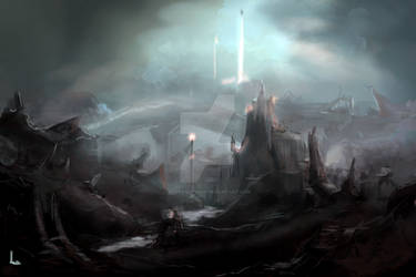 Futuristic Alien Planet by KevsanLevsan