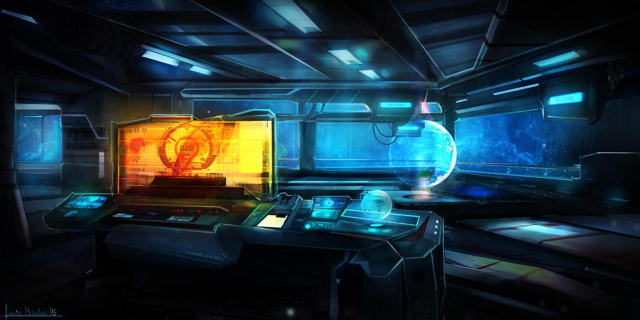 Sci Fi Interior By Kevsanlevsan On Deviantart