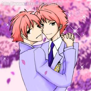 Hikaru and Kaoru by Xareko