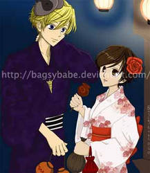 Tamaki and Haruhi's Festival by Ouran-Host-Club