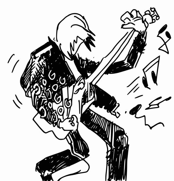 Rock Guitar Player by Figurative