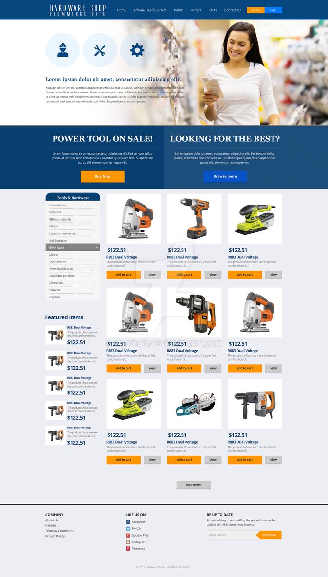 Hardware online store mockup design by argie07 on DeviantArt