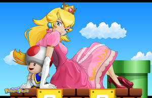 Princess Peach by artof-ravnbee