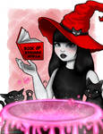 Inktober Day 10 - Magic by artof-ravnbee