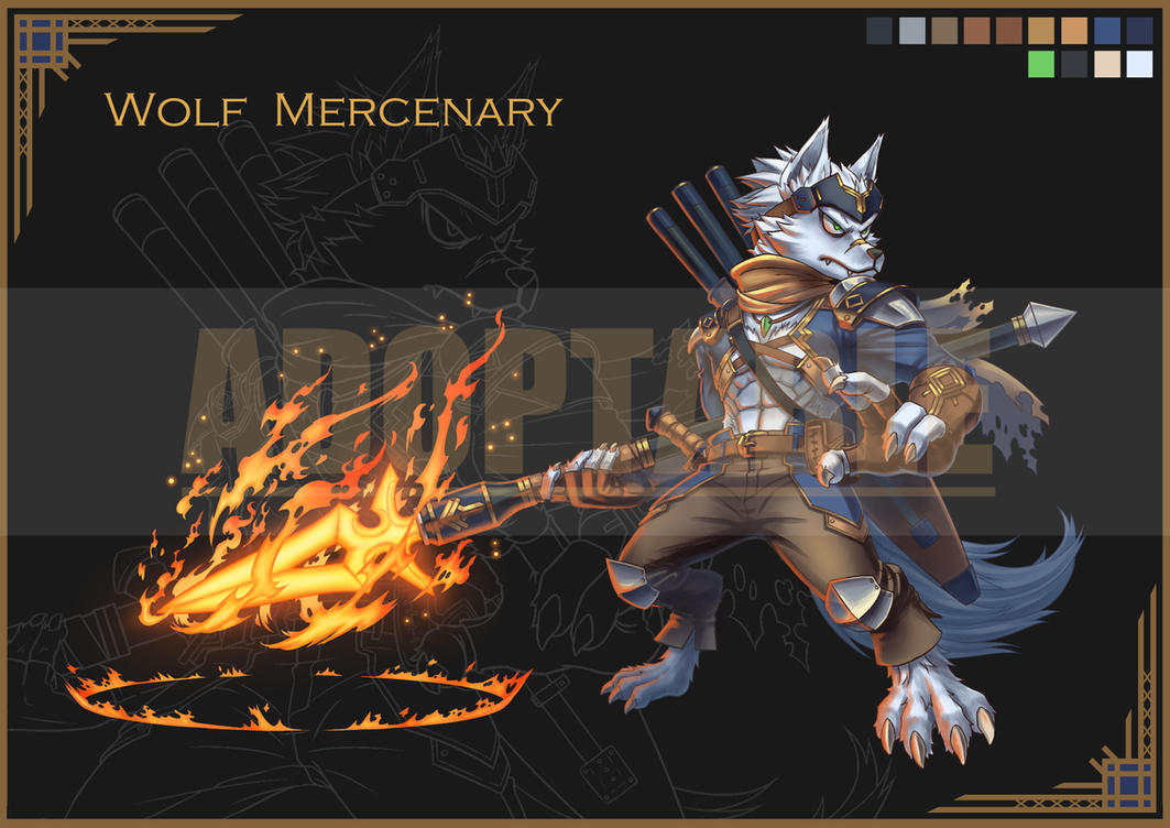 Wolf mercenary ADOPTABLE status : Closed by FullMeTalAof