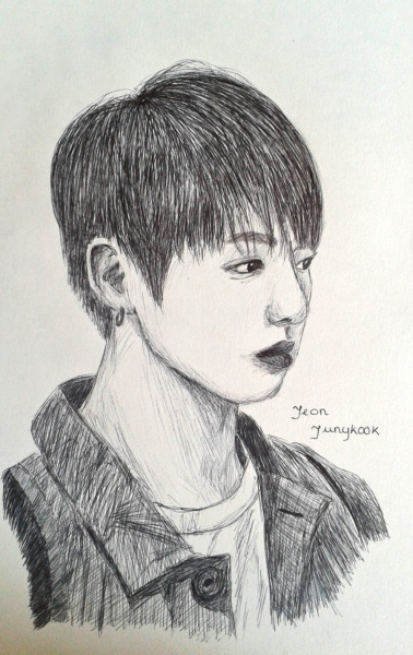 Jeon Jungkook (sketch Version) By Chimchimangel On DeviantArt