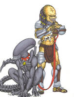 A Predator and his Alien... by Scuter