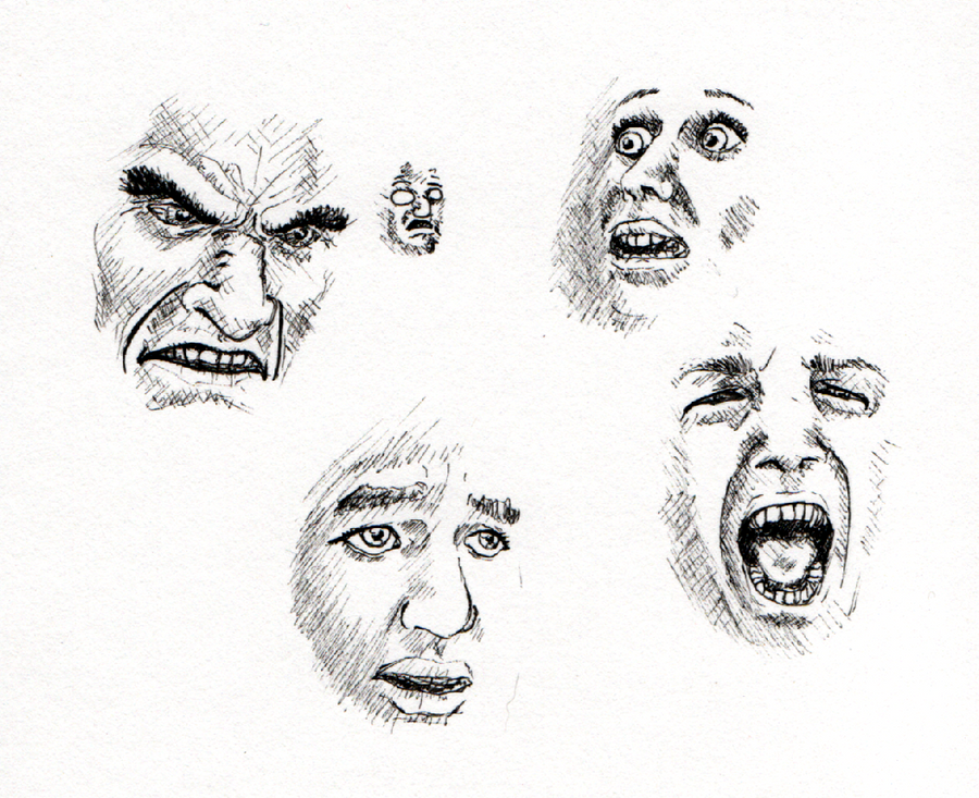 Quick Sketches- Faces By Scuter On DeviantArt