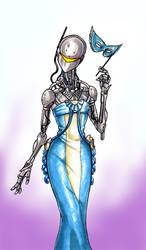 Lady in Blue by Scuter