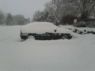 my car under snow by lostinsideaframe