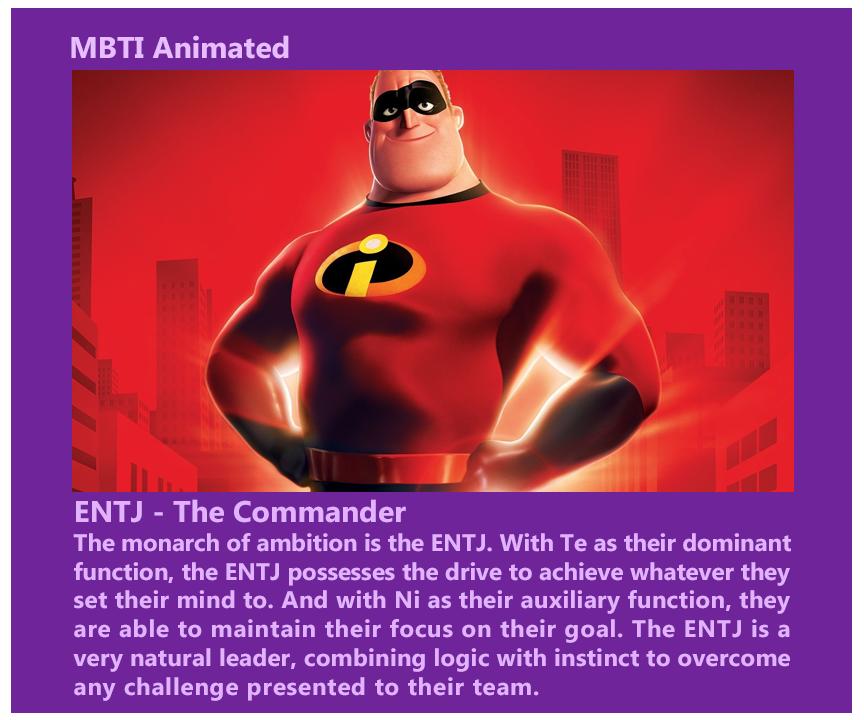 Pixar ENTJ - Mr. Incredible by MountainLygon