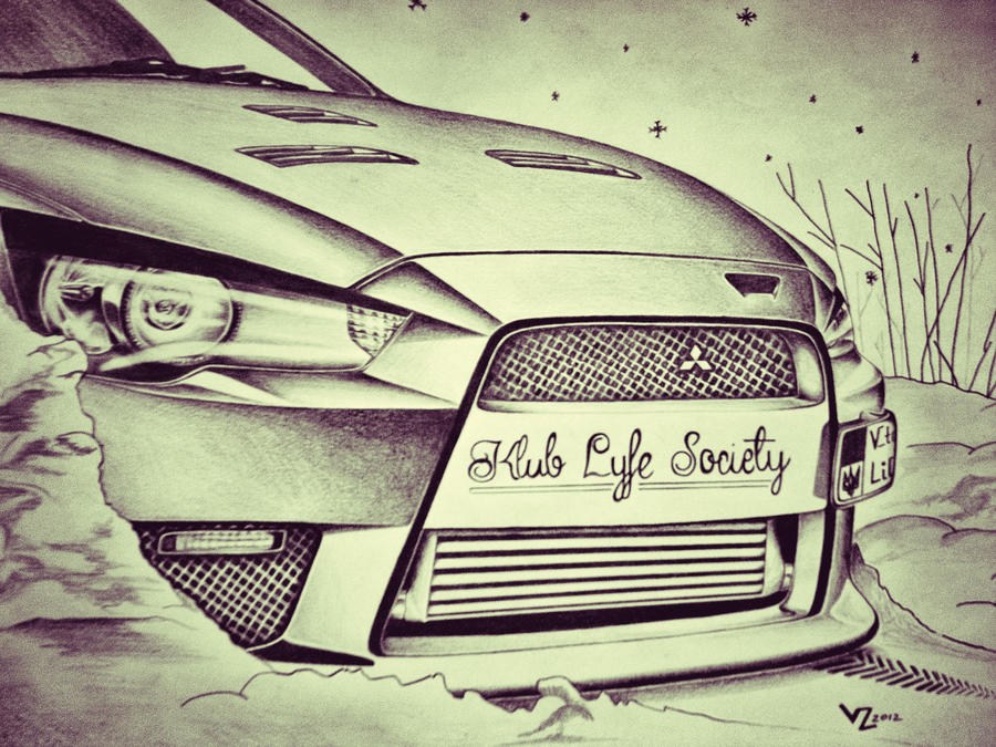 Mitsubishi Lancer Evo Mr10 Drawing By Vtahlick On Deviantart