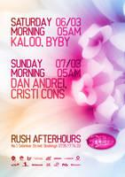 rush weekend programme by alextass