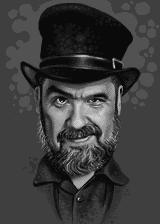 Jason Scott pixel portrait. by HansIJ