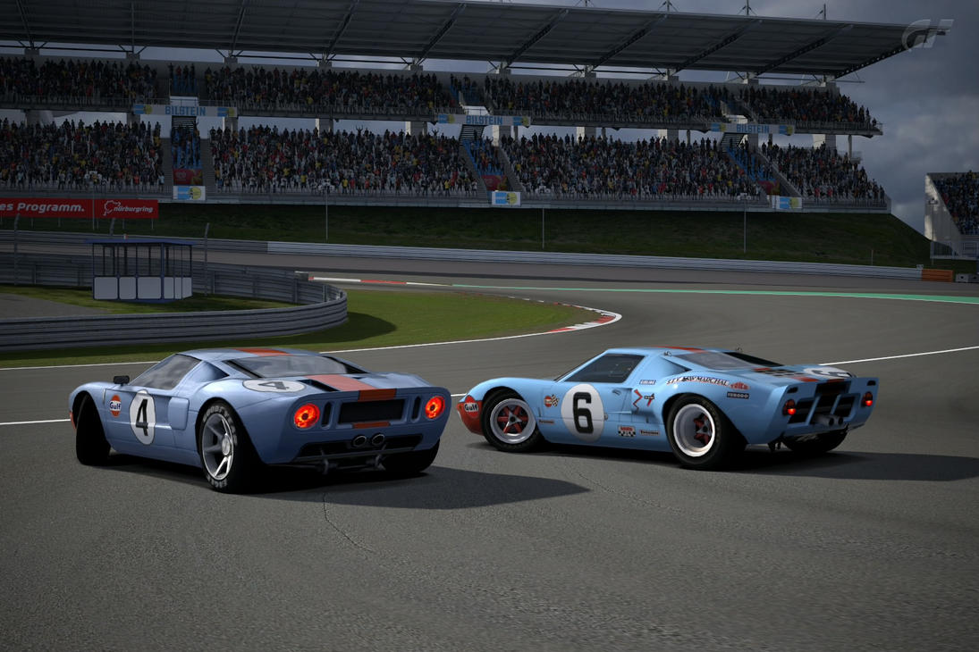 Ford Gt Race Car  And Ford Gt Lm Race Car By Lubeify