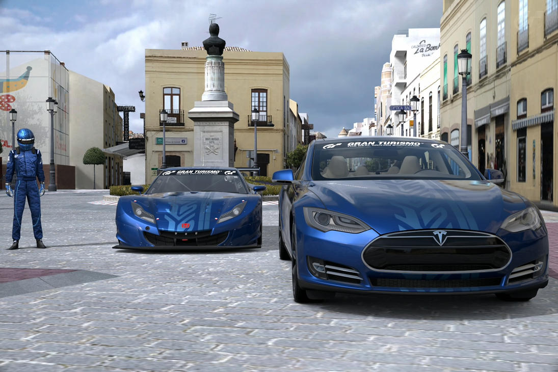 Tesla motors model s and honda hsv 010 gt 15th anv by for Tesla motors careers login