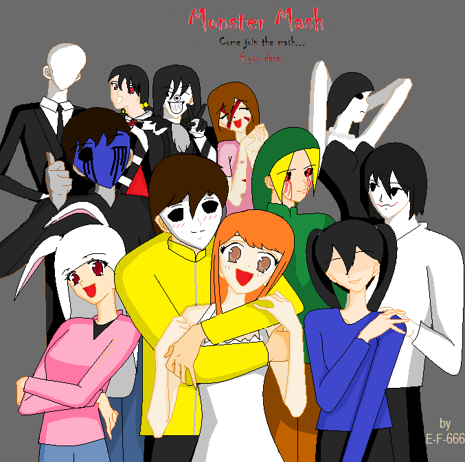 Monster Mash Title Page (PLEASE READ DESC.) by Everything-Fan-666