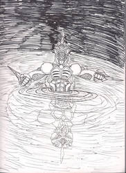 Inktober: Deep(er)..... Darker by Guyvantic