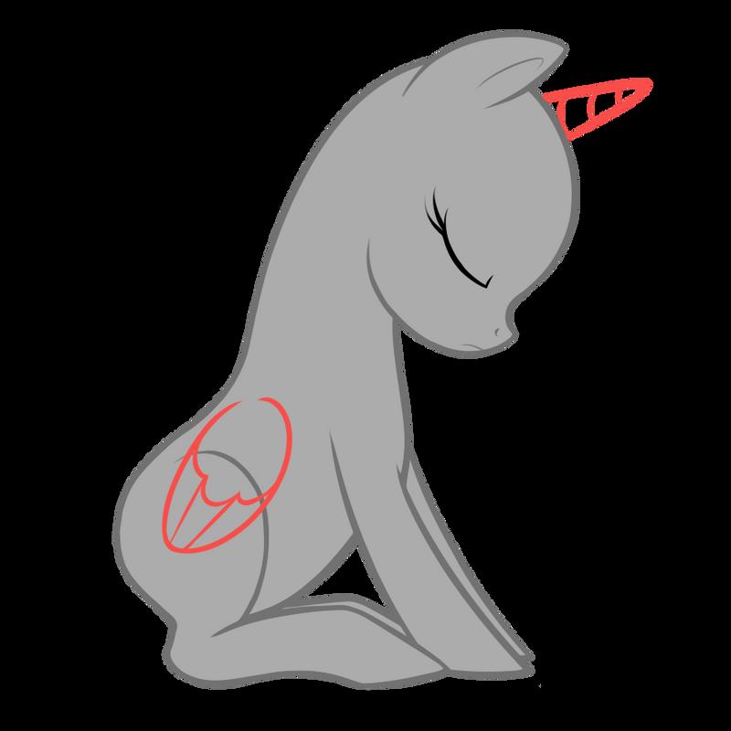 Silent's Sad Pony Base by SilentRisingSun on DeviantArt