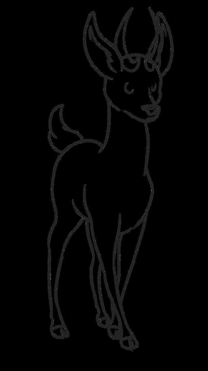 Line Drawings Of Animals Deer : Deer line art free to use by silentrisingsun on deviantart