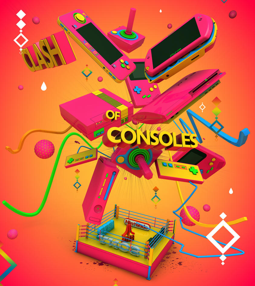 Clash Of Consoles Green by ricardofx