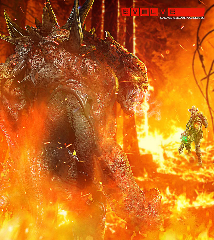 EVOLVE Fanart (Savage Goliath VS Griffin) by ricardofx