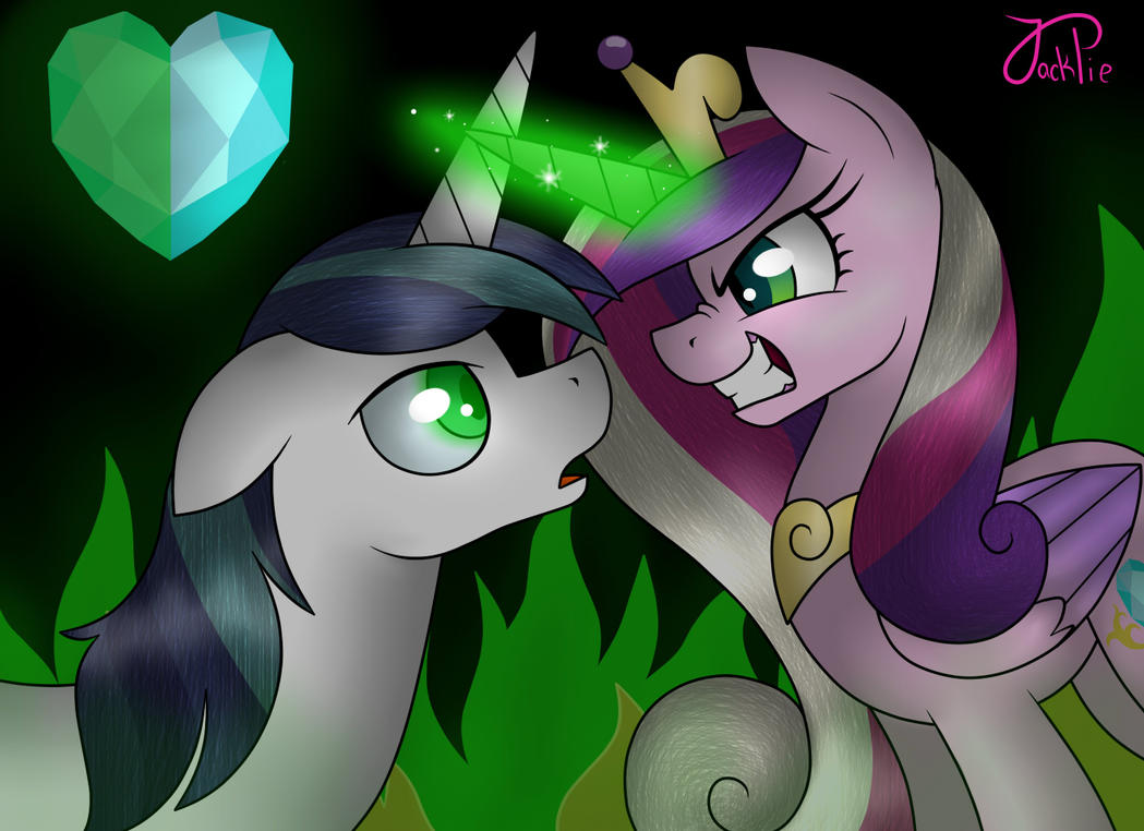 Cadence [Queen Chrysalis] and Shining Armor by Jack-Pie on ...