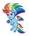 Rainbow Dash Rainbow Power [Chibi Pony]