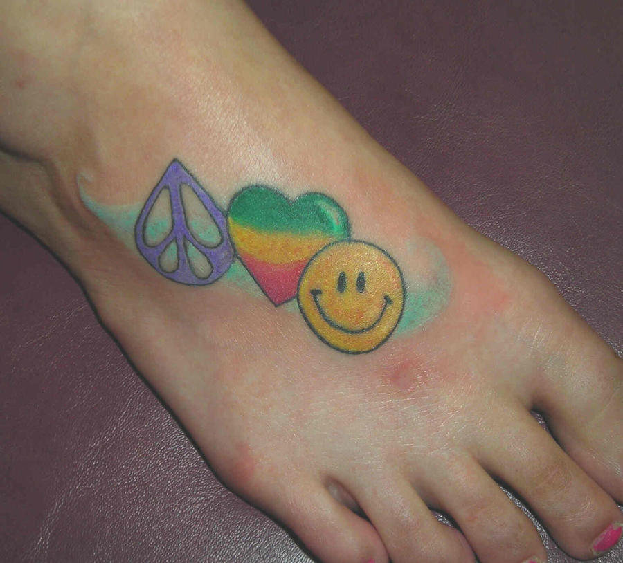 peace love happiness tattoos celebrity tattoos female