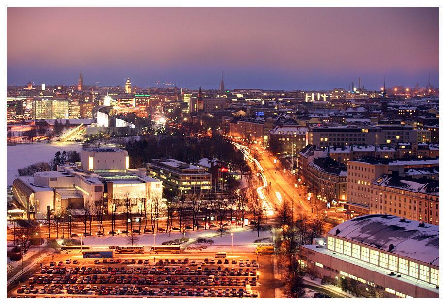 Helsinki City Lights 2 by HannaV