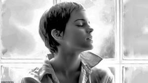 Emma at the window 2