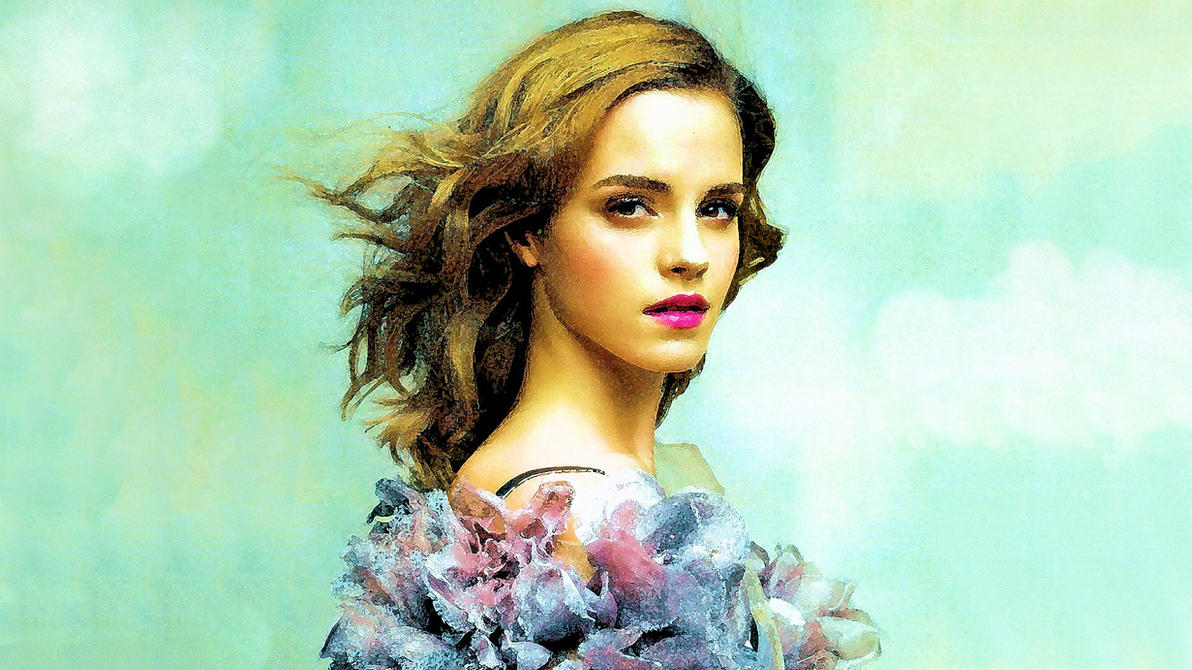 Emma Watson Art Wallpaper by Dave-Daring