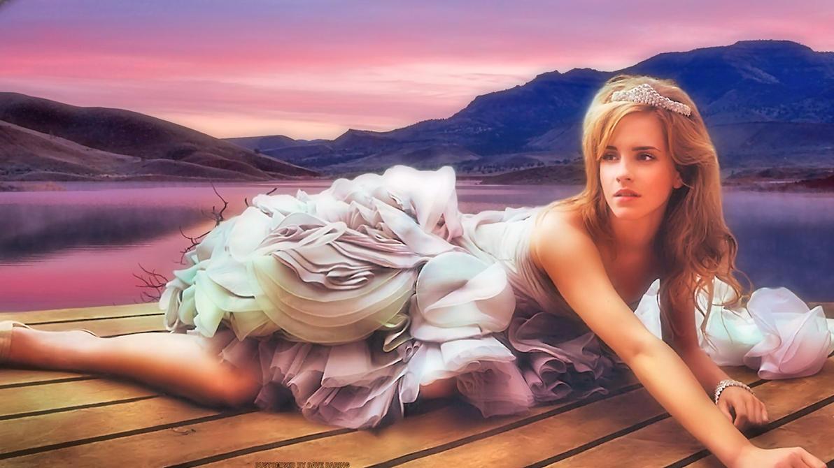 Emma Watson Lakeside by Dave-Daring