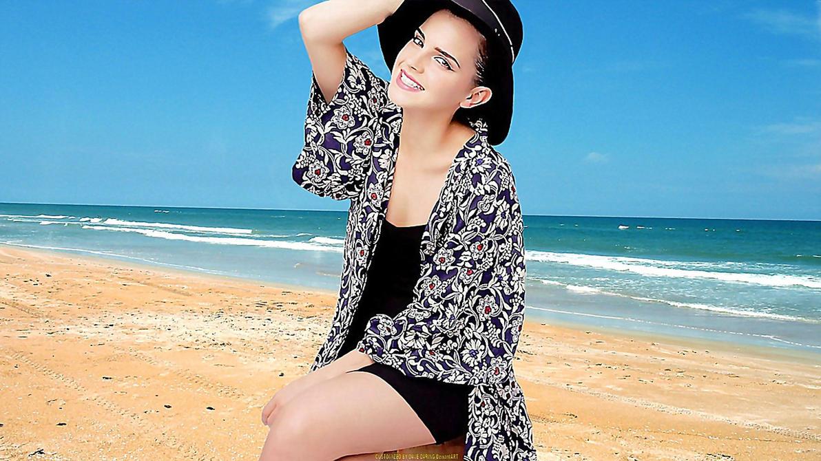 Emma Watson Beach Belle II by Dave-Daring