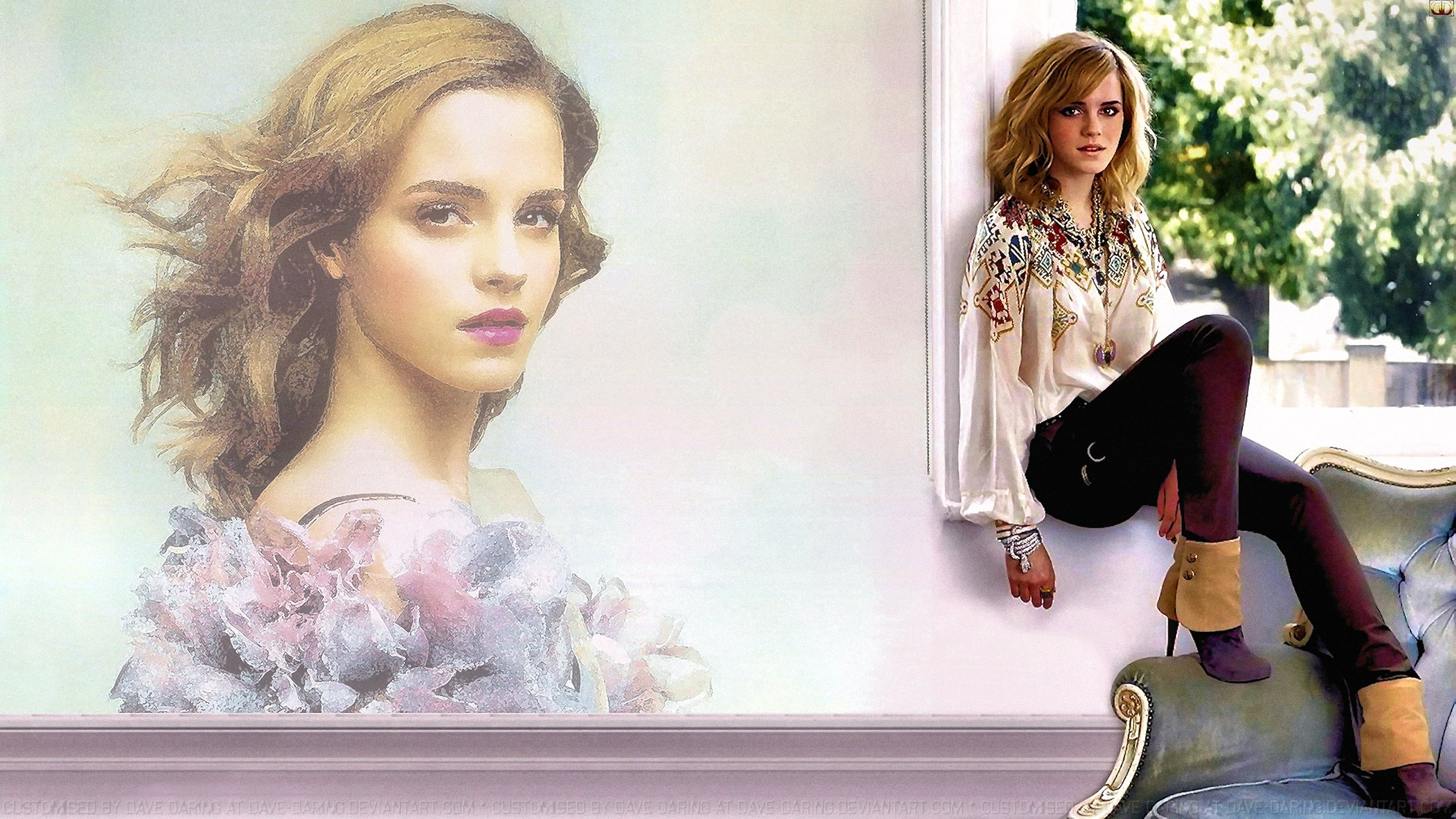Emma Watson Window VII by Dave-Daring