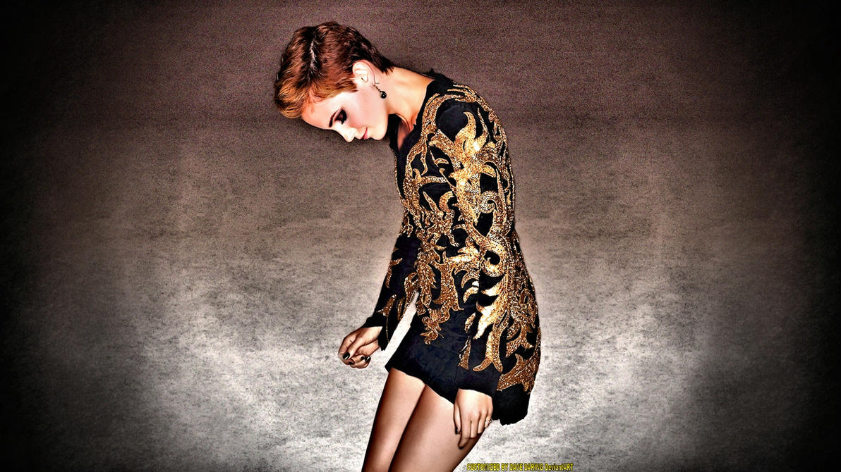 Emma Watson Golden by Dave-Daring