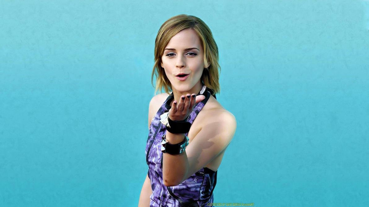 Emma Watson Blue Kiss by Dave-Daring