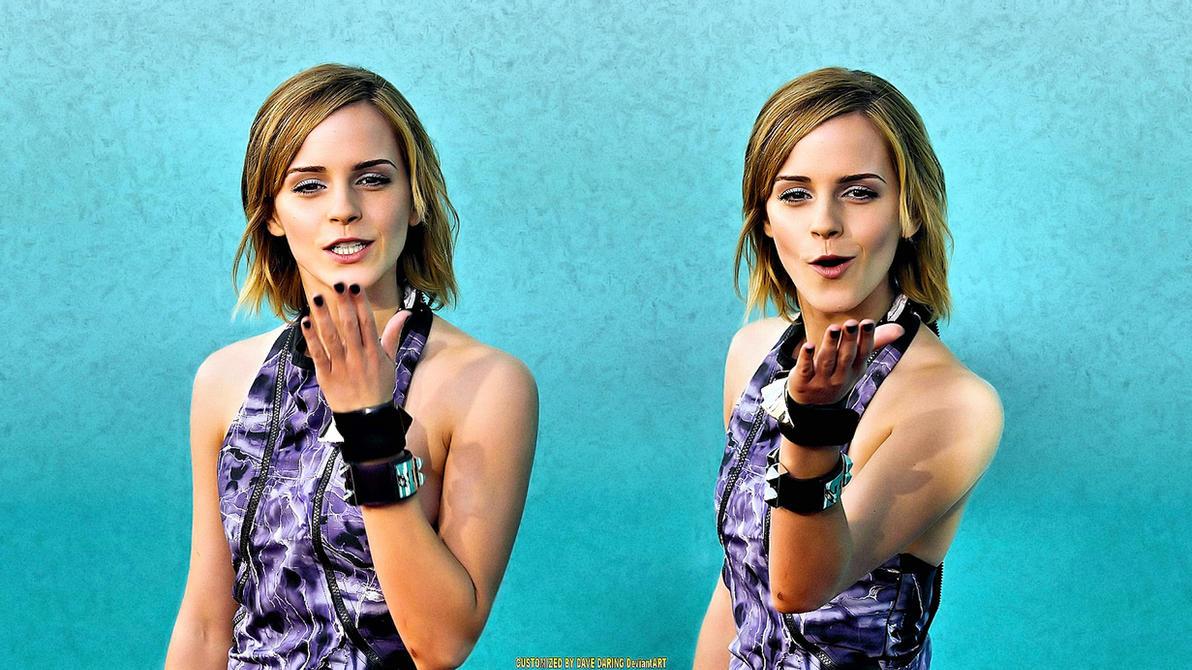 Emma Watson kiss Me Twice by Dave-Daring