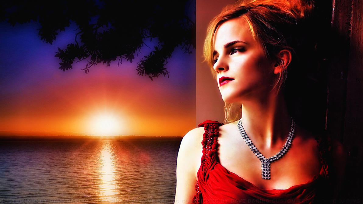 Emma Watson Sun in her eyes by Dave-Daring