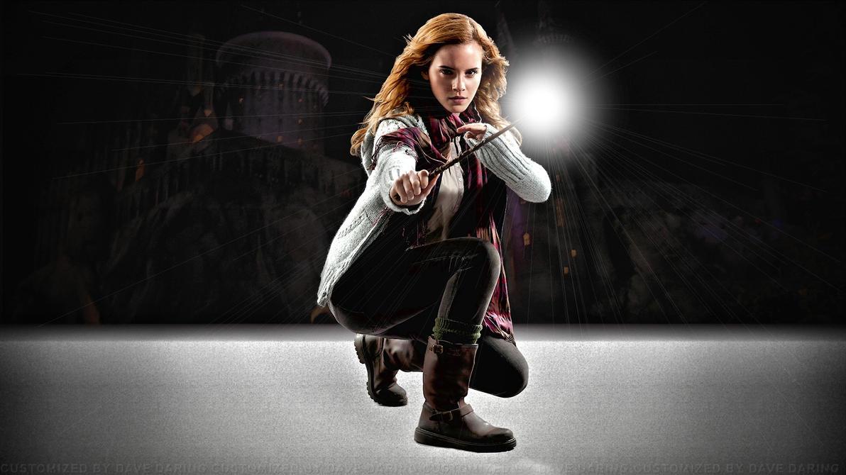Emma Watson Hogwarts Defender by Dave-Daring