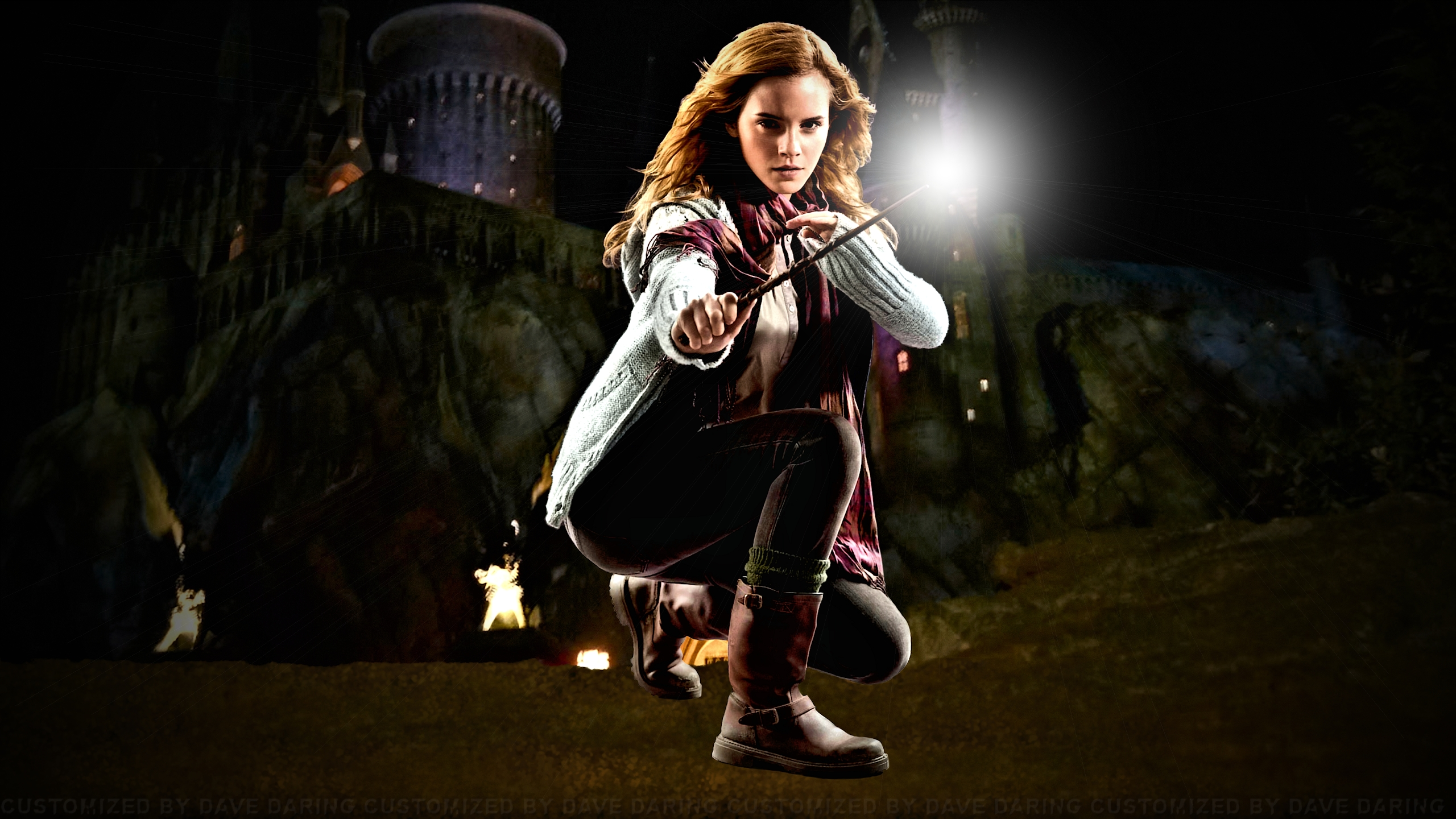 Emma Watson Hogwarts Defender Improved by Dave-Daring