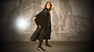 Emma Watson Hermiones Wand II by Dave-Daring