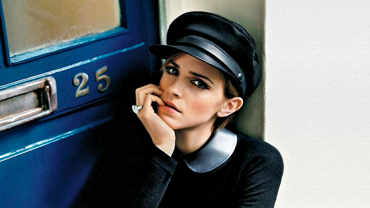 Emma Watson Doorway by Dave-Daring