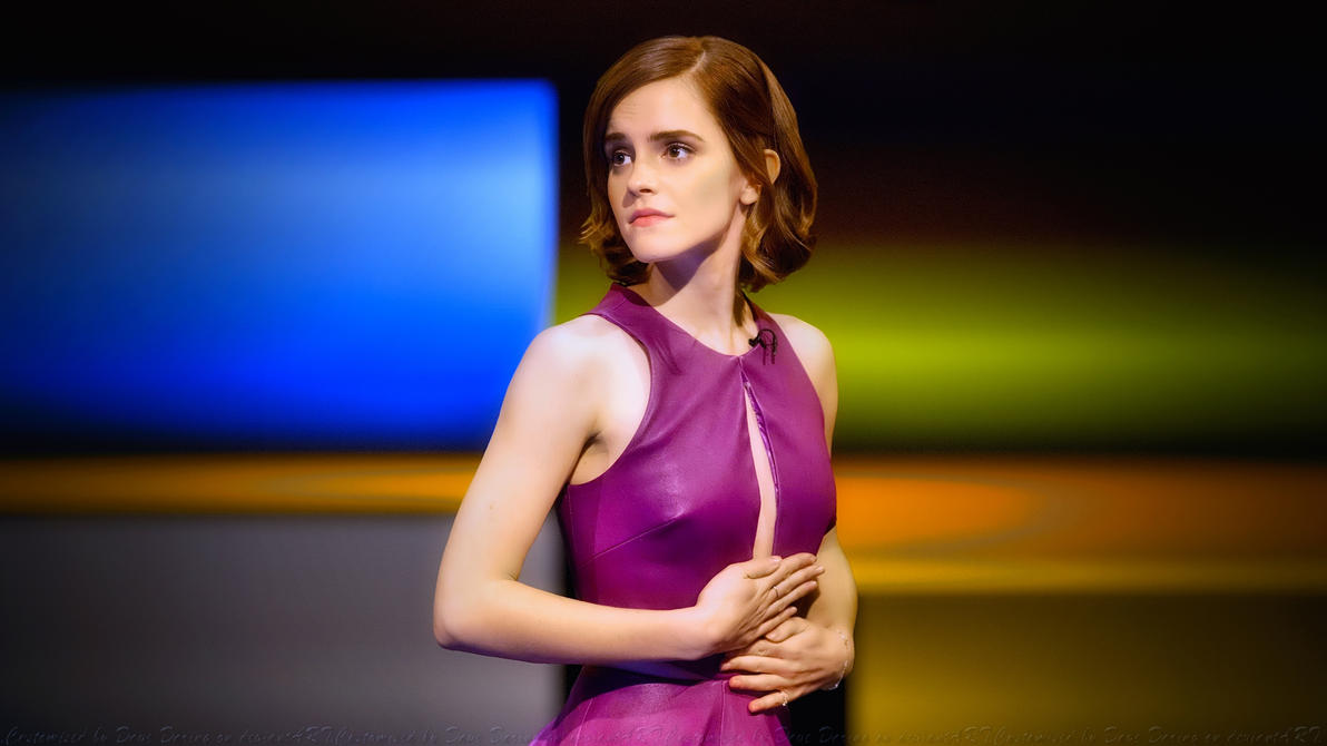 Emma Watson Pensive by Dave-Daring