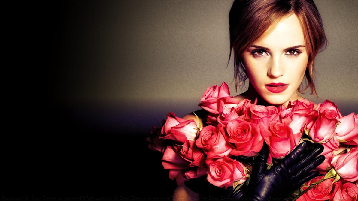 Emma Watson Rose By Night by Dave-Daring