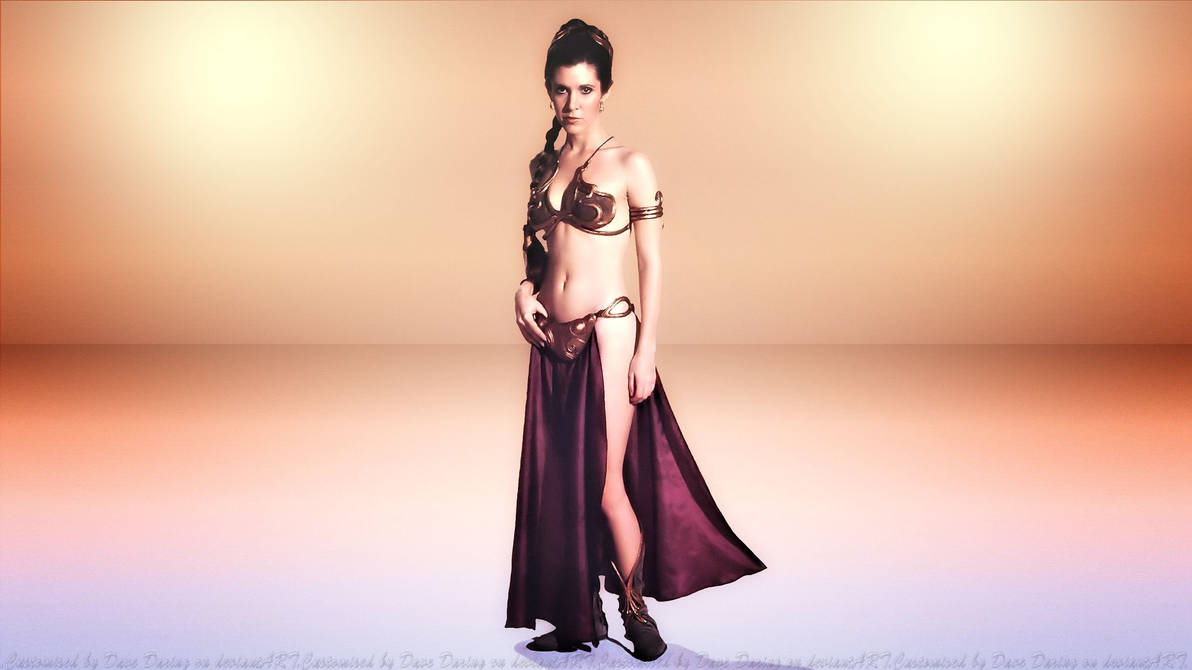 Carrie Fisher Leia Slave Girl II By Dave-Daring On DeviantArt