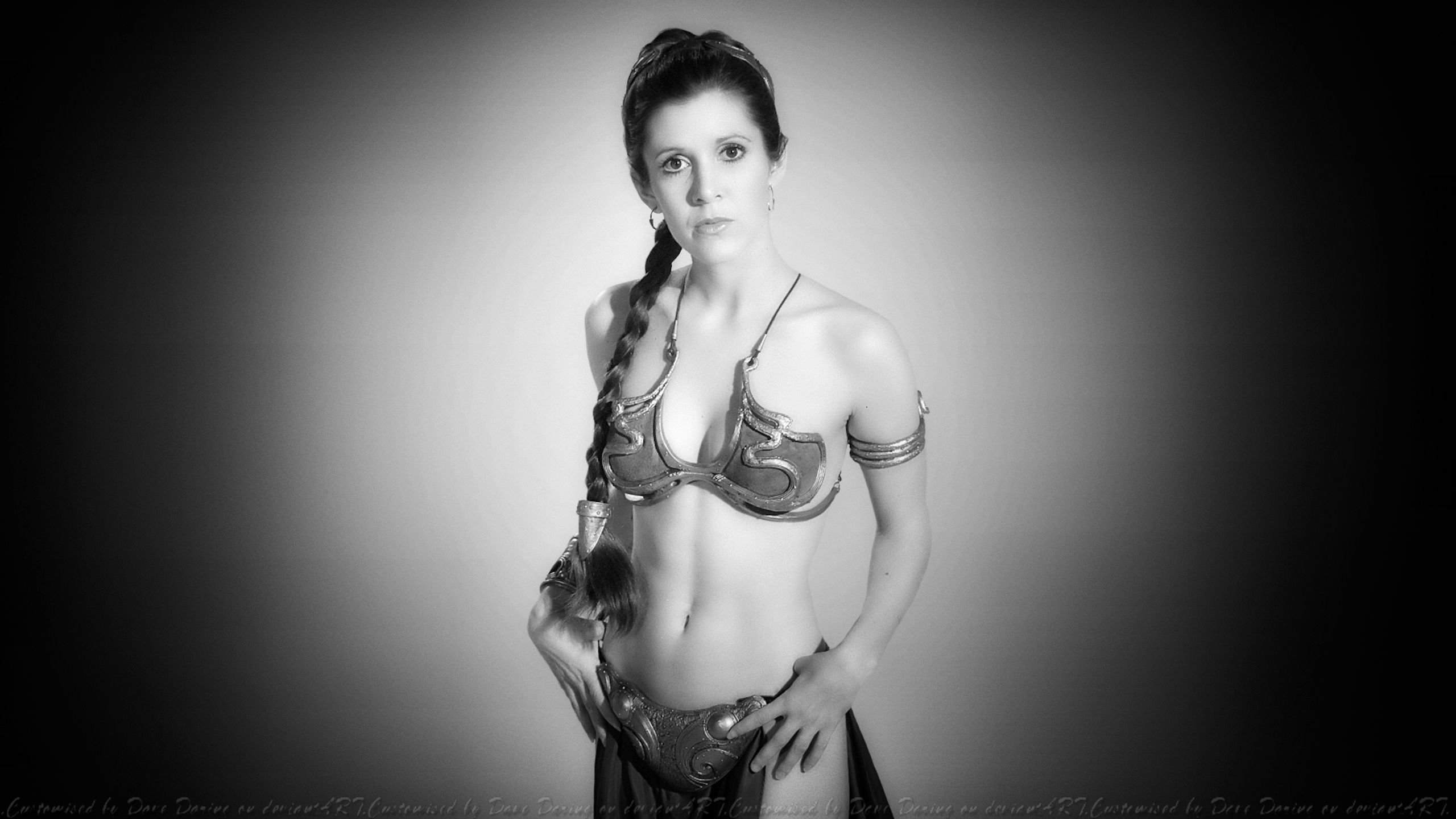 Carrie Fisher Slave Girl Princess VI by Dave-Daring